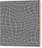 Fabric Design 19 Wood Print by Karen Musick