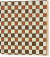 Fabric Design Mushroom Checkerboard Abstract #2 Wood Print