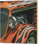 Fabulous Flames  Wood Print