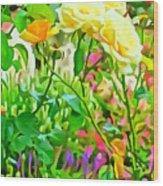 Fabulous Florals 333 Wood Print