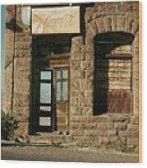 Facade American Pool Hall Coca-cola Sign Ghost Town Jerome Arizona 1968 Wood Print