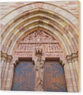 Facade Church Of Obernai,alsace France 073540 Wood Print