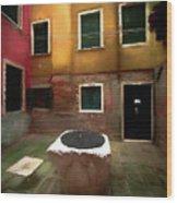 Facade Of Venice V1  Wood Print
