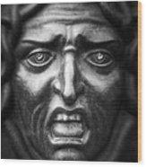 Face #9874 Wood Print