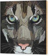 Face De Puma Wood Print