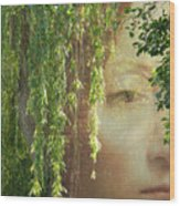 Face In The Willows Wood Print