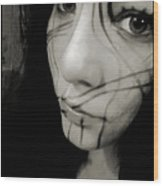 Face Lines Wood Print