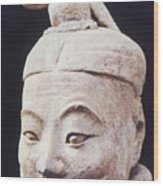 Face Of A Terracotta Warrior Wood Print