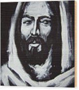 Face Of Christ Ccsa Wood Print by Larry Cole