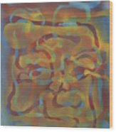 Face Of Colors Wood Print
