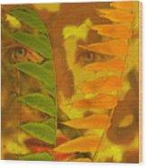 Face Of Fall Wood Print