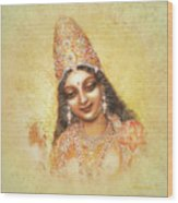 Face Of The Goddess - Lalitha Devi - Without Frame Wood Print