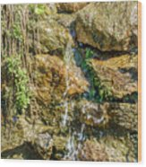 Face Of The Mountain Stream Wood Print
