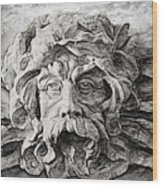 Father Time 2 Wood Print