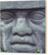 Face On Bali Wood Print