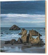 Face Rock Beach  Wood Print