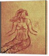 Faceless Mermaid Wood Print