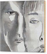 Faces Wood Print