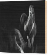 Faces In Smoke 1161 Wood Print