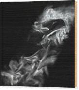 Faces In Smoke  1253 Wood Print