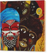 Faces Of Africa Wood Print