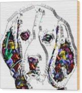 Faces Of Life 37 Beagle Wood Print
