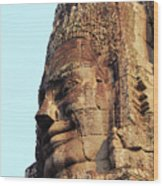 Faces Of The Bayon Temple - Siem Reap, Cambodia Wood Print
