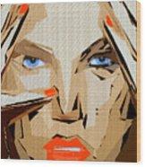 Facial Expressions Xix Wood Print