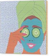 Facial Masque Wood Print