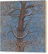 Facing A Frosty Sunset 2010 Wood Print