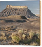 Factory Butte 0552 Wood Print
