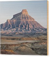 Factory Butte 0761 Wood Print
