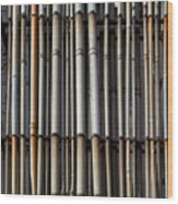 Factory Pipes Wood Print
