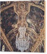 Faded Chandelier  Wood Print