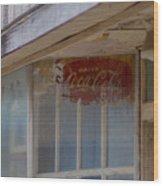 Faded Coca-cola Sign #vanishingtexas Storefront Rosebud Wood Print