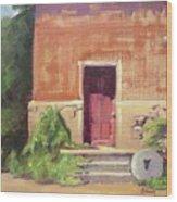 Faded Door Wood Print