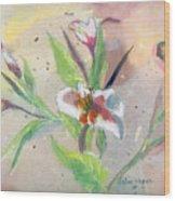 Faded Lilies Wood Print