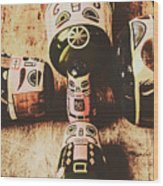 Faded Old Toys From A Vintage Past Wood Print