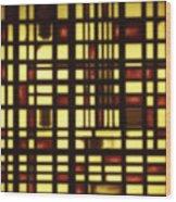 Faded Rectagles Wood Print
