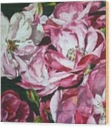 Fading Blooms Wood Print