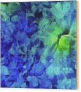 Fading Blue Wood Print