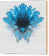 Fading Blues Wood Print