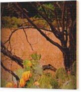 Fading Cactus Wood Print
