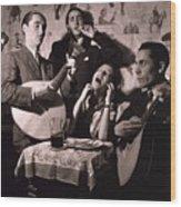 Fado Singer In Portuguese Night Club Wood Print