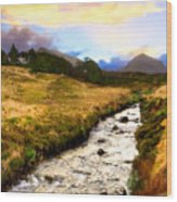 Faerie Lands - Beautiful Morning On The Isle Of Skye Wood Print by Mark E Tisdale