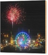 Fair Fireworks Wood Print
