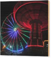 Fair Lights Wood Print