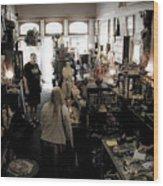 Fair Oaks Antique Shop Wood Print