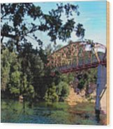 Fair Oaks Bridge Wood Print