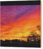 Fair Oaks Sunset Wood Print